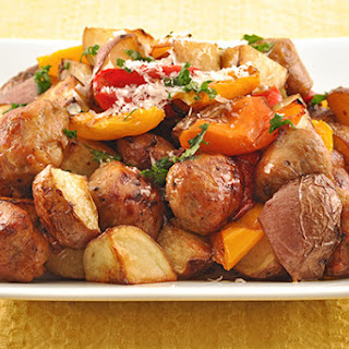 Balsamic Roasted Sausage, Sweet Peppers and Potatoes