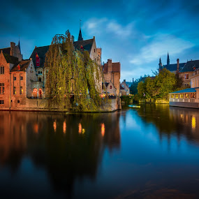 Brugge by Marcin Frąckiewicz - City,  Street & Park  Historic Districts ( water, brugge )