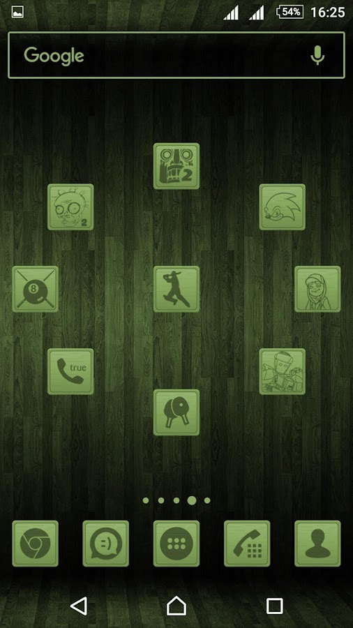 Wooden Icons Green Screenshot 4