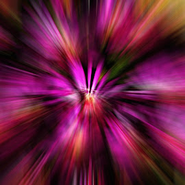 Purple explosion by Gail Camons Erasmus - Abstract Patterns ( abstract, colour, colourful, purple, color, abstract art, digital art, lines, pink )