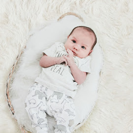 Baby Payton by Jenny Hammer - Babies & Children Babies ( basket, baby, sweet, cute, boy )