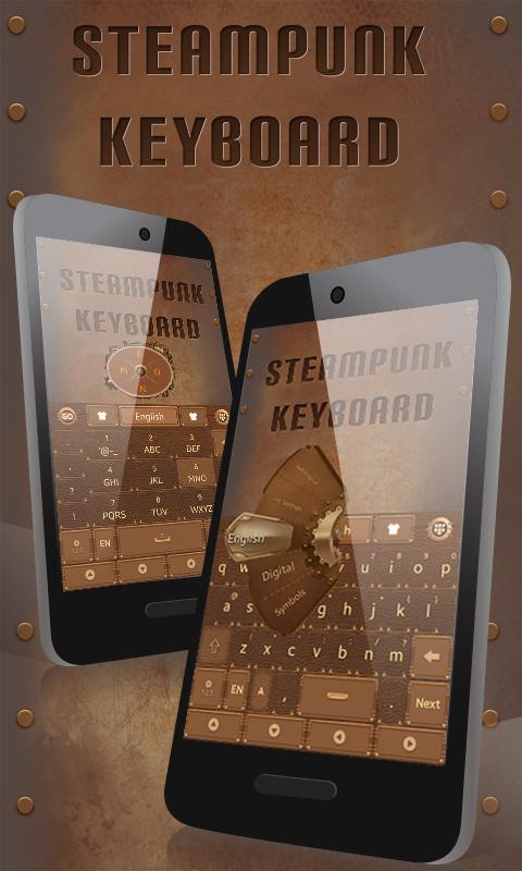 Steam-Punk-GO-Keyboard-Theme 6