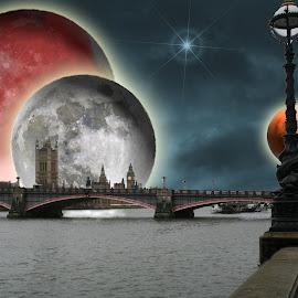 Futuristic Westminster Bridge by Terry Jackson - Digital Art Places