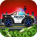 Police car racing for kids icon