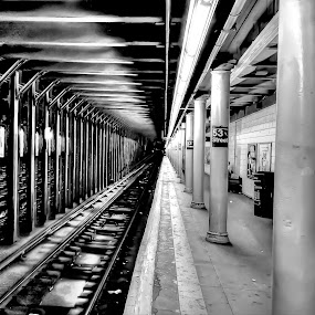 subway by Habeeb Alagangan - Digital Art Places ( train station, subway, art, digital art, fine art, place )