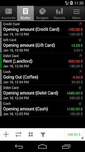 Financisto - Personal Finance Tracker Screenshot