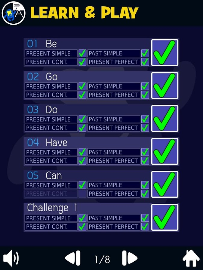 Verb Smash - English Full Screenshot 3