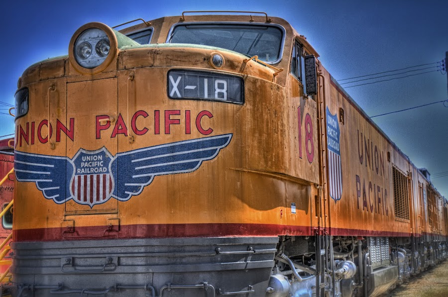 Union Pacific Flyer by Ron Meyers - Transportation Trains