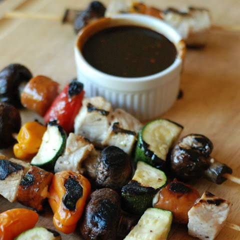 Chicken Kabobs with Balsamic BBQ Sauce