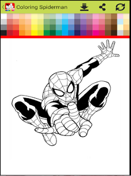 Coloring Spider-man : SpiderMan Games Free APK screenshot thumbnail 2