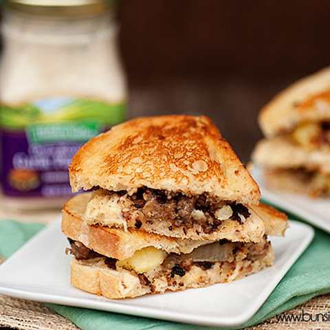 Sausage Hash Grilled Breakfast Sandwich