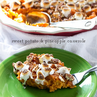Sweet Potato Casserole With Pineapple Marshmallows And Pecans Recipes
