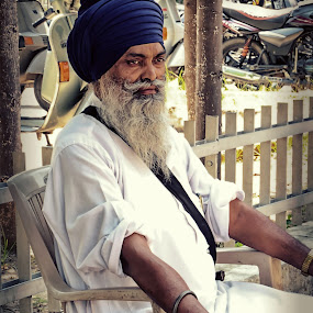 Sardare by Inderdeep Singh - People Portraits of Men ( nature, wedding, india, people, portrait )