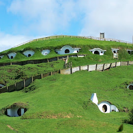 Hobbiton by Sarah Harding - Novices Only Landscapes ( outdoors, novices only, movie, architecture, landscape )