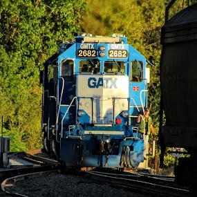 Railroad Life by Rick Covert - Transportation Trains ( railroad, locomotive, arkansas, railroad tracks, trains, local )