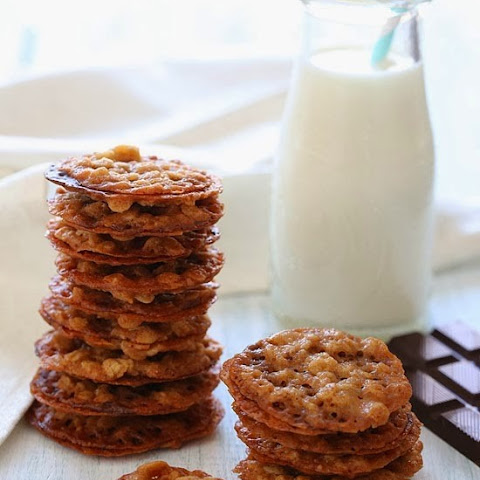 White Chocolate Oatmeal Lace Cookies