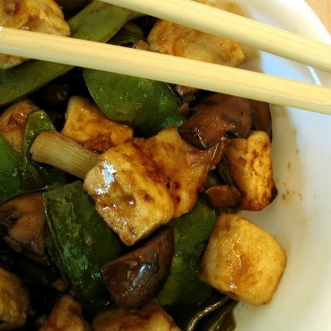 Tofu Stir-Fry with Snap Peas and Mushrooms