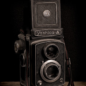Vintage Yashica-A by Bill Camarota - Artistic Objects Still Life ( stilllife, yashica, vintage, still life, camera, retro )