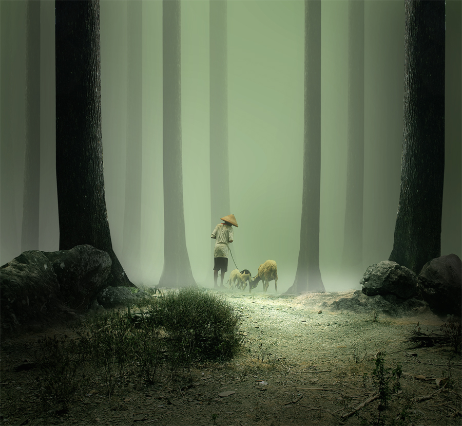 Grazing in the Forest by Eli Supriyatno - Digital Art People