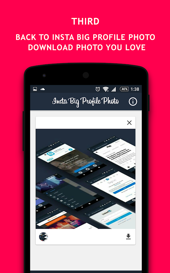 Insta Großes Profilfoto android apps download