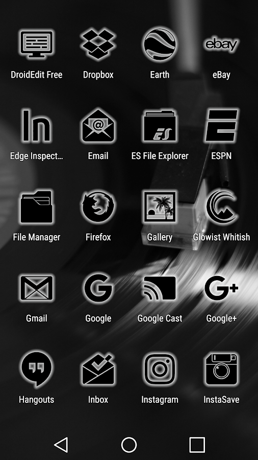 Glowist Whitish - Icon Pack Screenshot 4