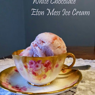 Easy White Chocolate Eton Mess Ice Cream