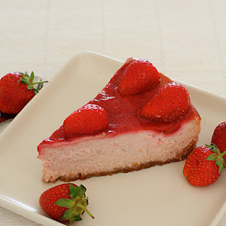 Vegetarian Strawberry Cheesecake