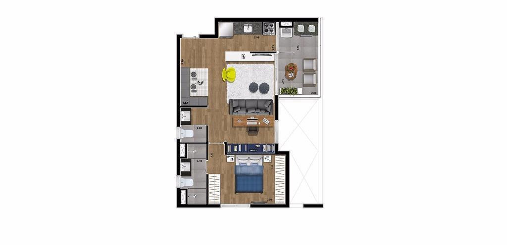 Planta Opção  60 m²