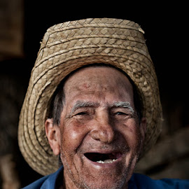 In The Moment by Yolanda Frost - People Portraits of Men ( work, laughing, man, portrait, cuba,  )