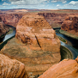 The River and The Canyon by Paulo Peres - Landscapes Deserts ( desert, nature, page, arizona, canyon, river )