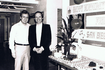 With David Atherton Backstage San Diego Symphony on my 40th Birthday, 1984