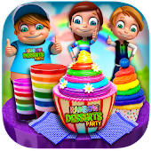 Game DIY Rainbow Desserts Tea Party APK for Windows Phone