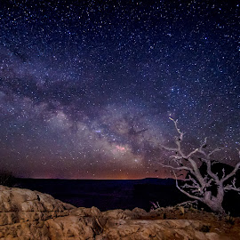 Moab and the Milky Way by Cameron Knudsen - Landscapes Starscapes ( knudsen outdoors, cameron knudsen, timeless moments photography, travel, landscape, milky way, slow shutter speed, knudsen photography, night photography, nature, knudsen, utah, national geographic, stars, utah camping, utah hiking, night, long exposure, travel photography )