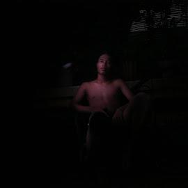 glow in the dark by Didi Didi - Digital Art People ( #man #people )