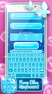 App Neon Blue Keyboard Changer 2.0 APK for iPhone
