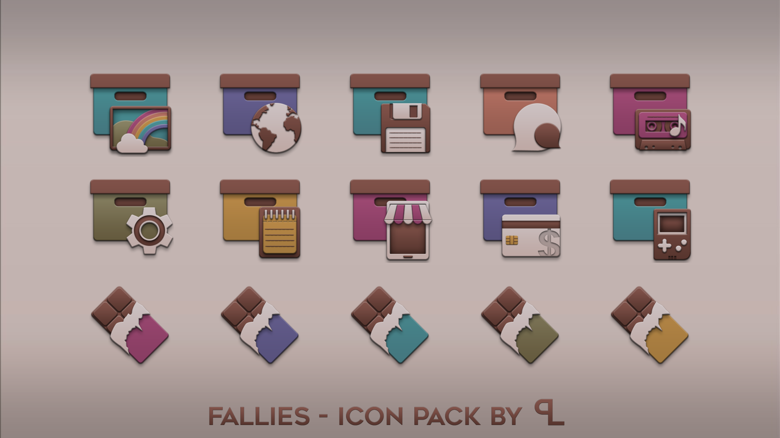 Fallies Icon pack - Chocolat Screenshot 4