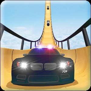 US Police Mega Ramp Car Stunts Racing: Cop Driving New App on Andriod - Use on PC