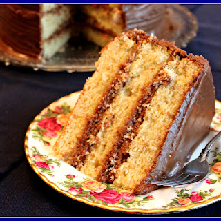 Old Fashioned Yellow Cake with Chocolate Icing!