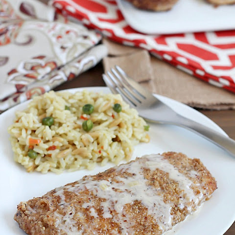 Pecan Crusted Chicken with Apple Cream Sauce