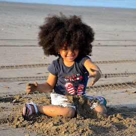 Enjoy at Beach by Sanjeev Kumar - Babies & Children Child Portraits (  )