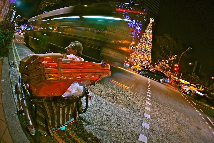 Street Riders by Sim Kim Seong - City,  Street & Park  Street Scenes ( pwcflashes )