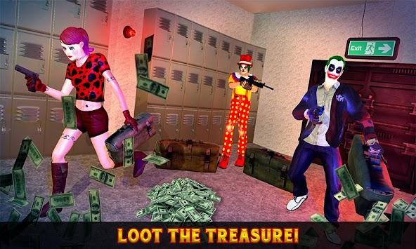 Killer Clown Bank Robbery - City Gangster Squad apk screenshot