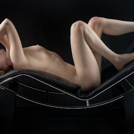 Laid Back by Colin Dixon - Nudes & Boudoir Artistic Nude ( chez, chair, nude, naked, women, leather )