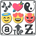 Symbols, emojis, letters