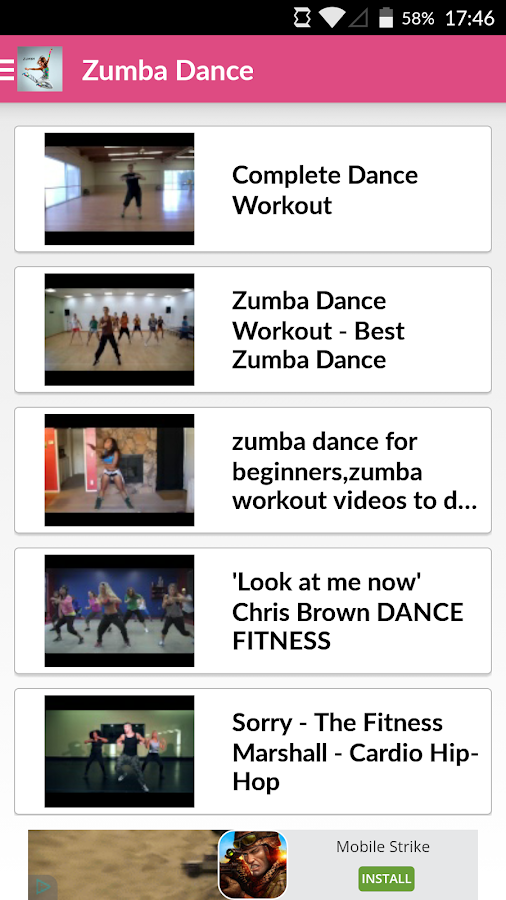 Dance Workout For Zumba Screenshot