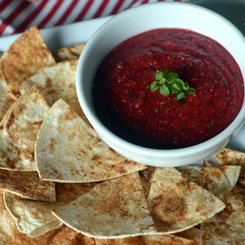 Cranberry Salsa with Cinnamon Chips