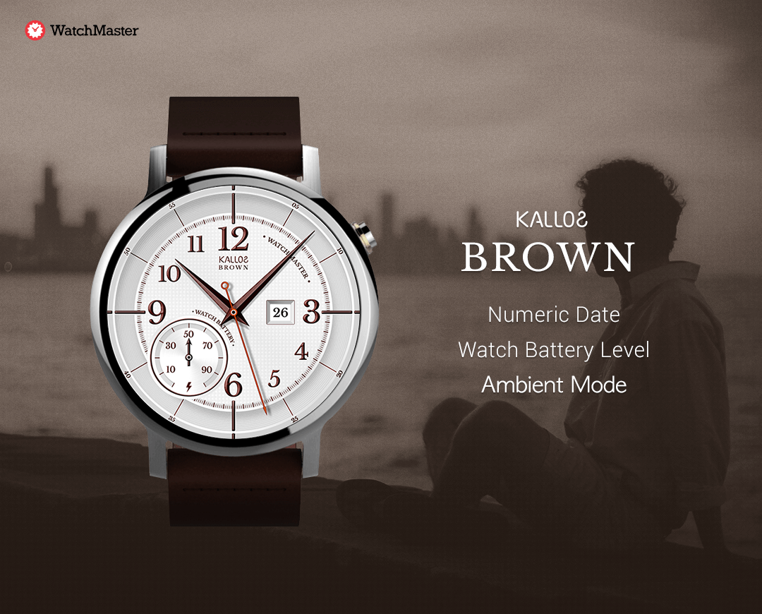 Brown watchface by kallos Screenshot 4