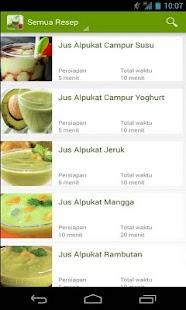 Resep Jus Sehat- screenshot thumbnail