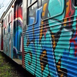 Graffiti On Train by Marco Bertamé - Transportation Trains ( graafiti, train )