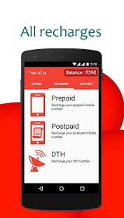 App FreeATM: Free Recharge 245.0 APK for iPhone
